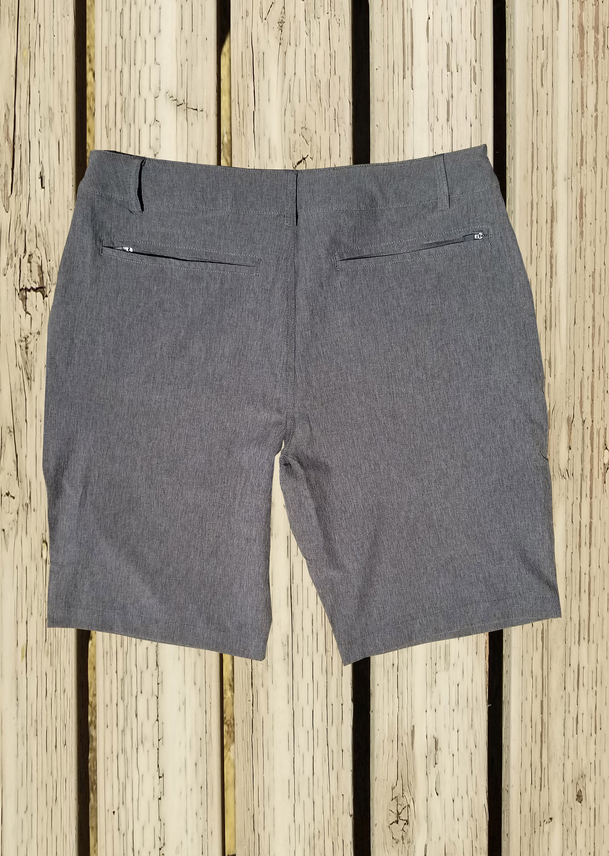 Sun Moon Truth Hybrid 24 Shorts - Grey Mens Shorts Back View