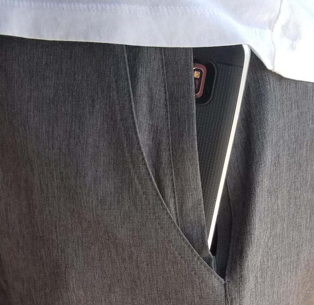 Sun Moon Truth Hybrid 24 Shorts - Grey Mens Shorts Front Pocket Zipper